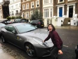 Touching a stranger's car